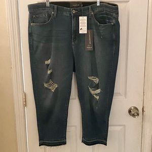 Torrid Premium High Waisted Crop Capris Size 26